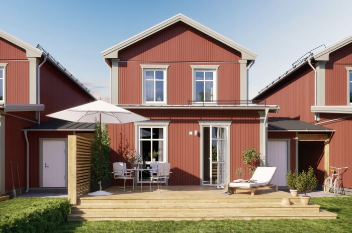 Exteriör i projektet Brf Morgondröm som OBOS bygger i Alster, Karlstad