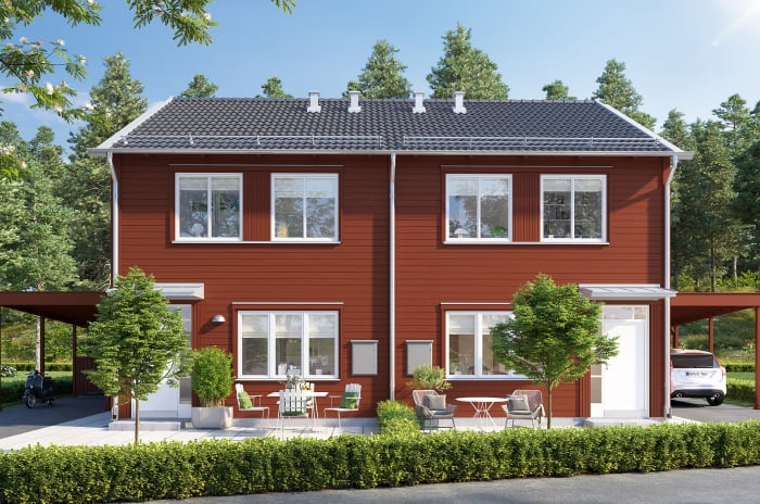 fasad parhus Brf Koltrasten