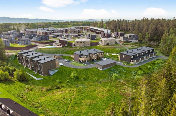 Oversiktsbilde over boligprosjektet Pepperstadkollen i Vestby