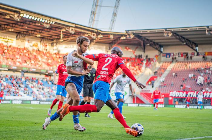 fotbollsspelare på stadion