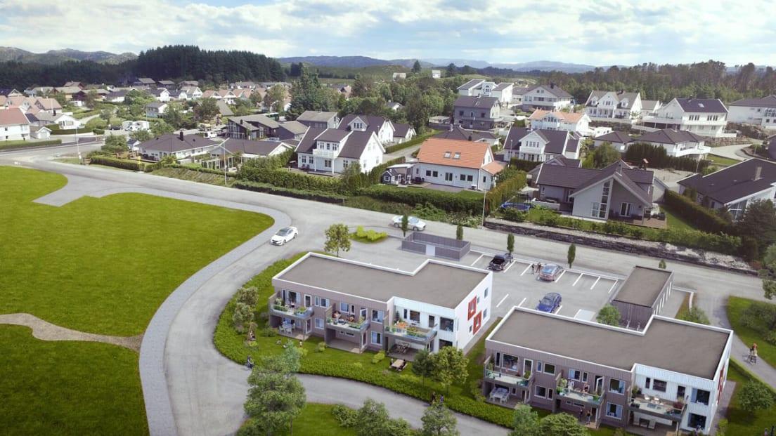 Oversiktsillustrasjon av leiligheter, BK1