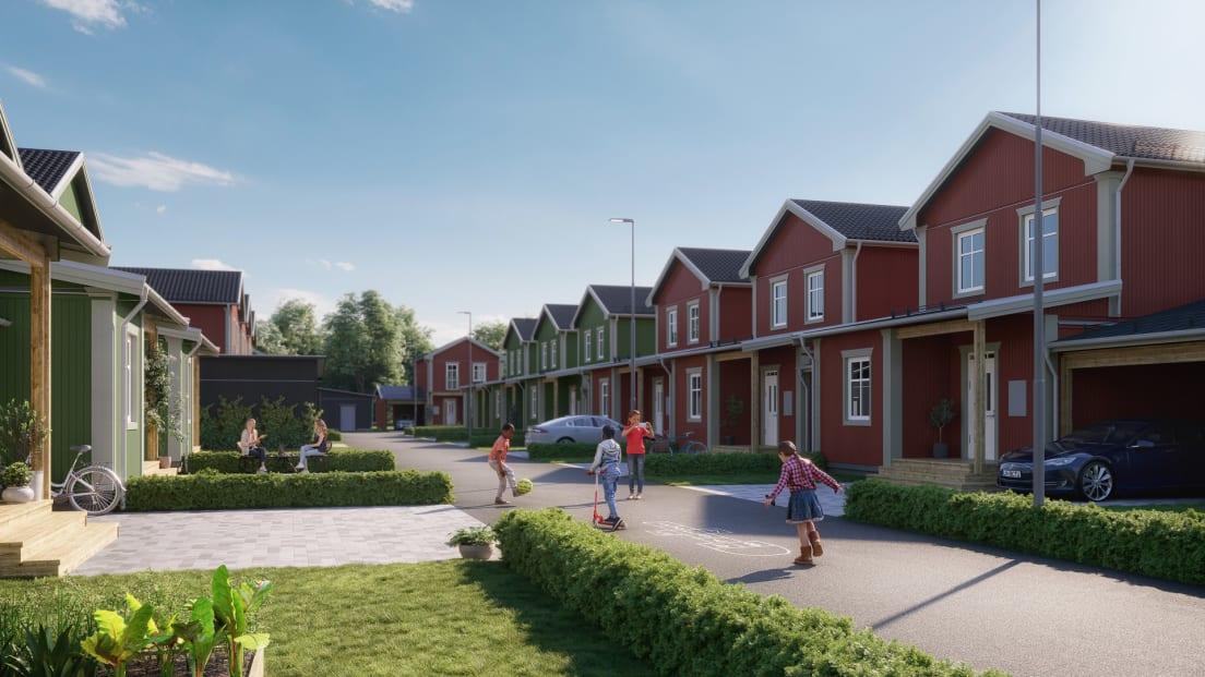 Kvarteret i Brf Morgondröm i Alster, Karlstad