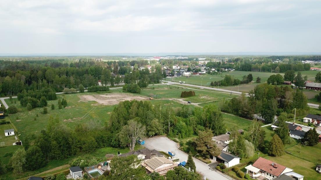 Översiktsbild där Brf Nytorp planeras att byggas