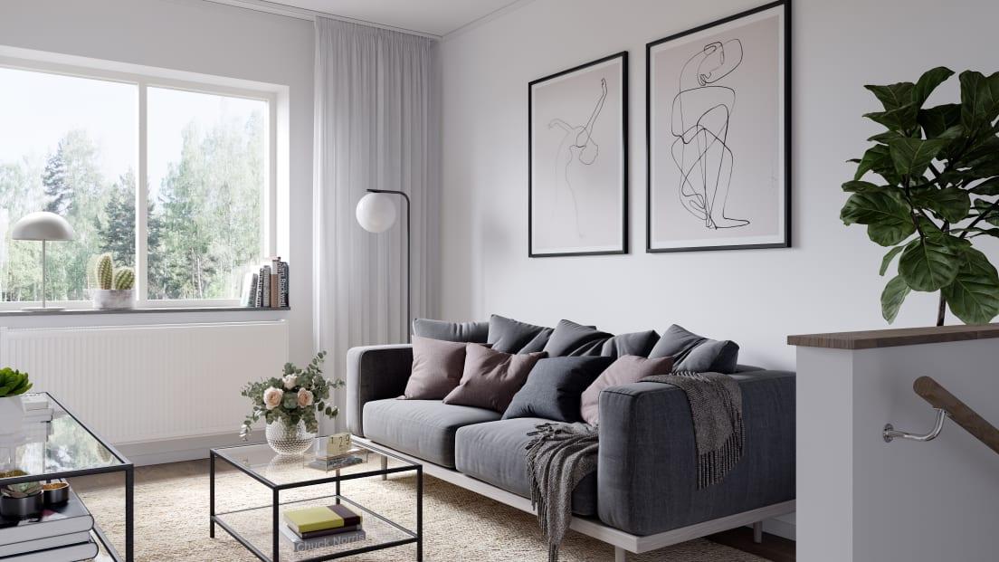 vardagsrum med soffmöbel