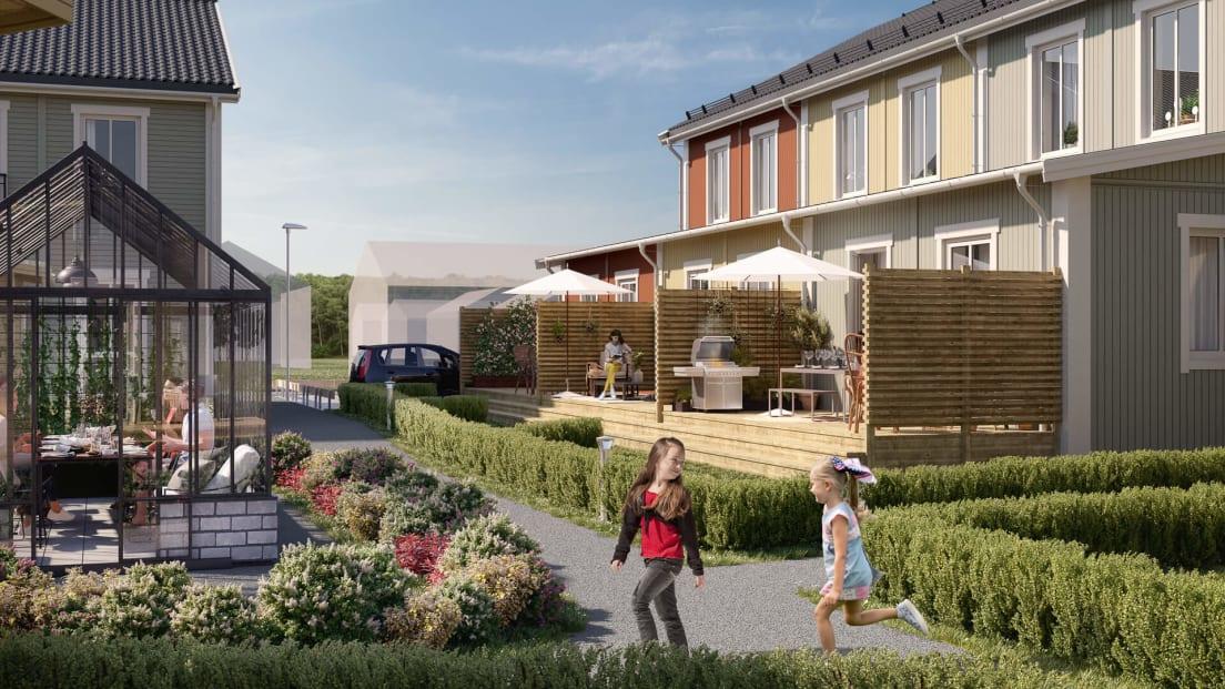 Grönt och skönt kvarter i Brf Saga