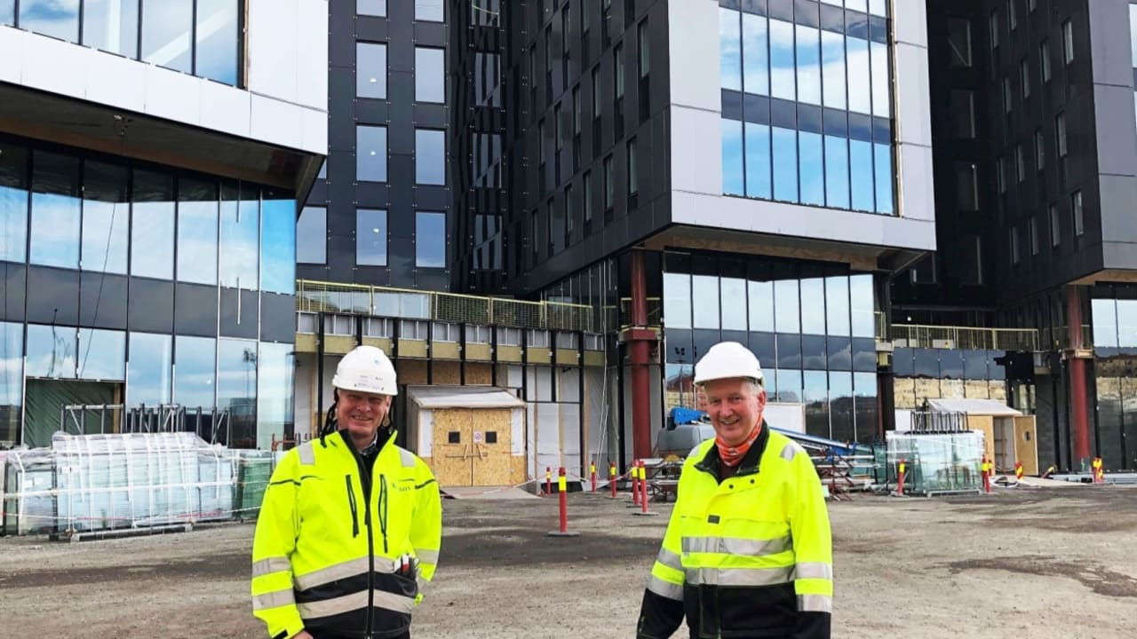 Bilde utenfor kontorbygget Oslo K