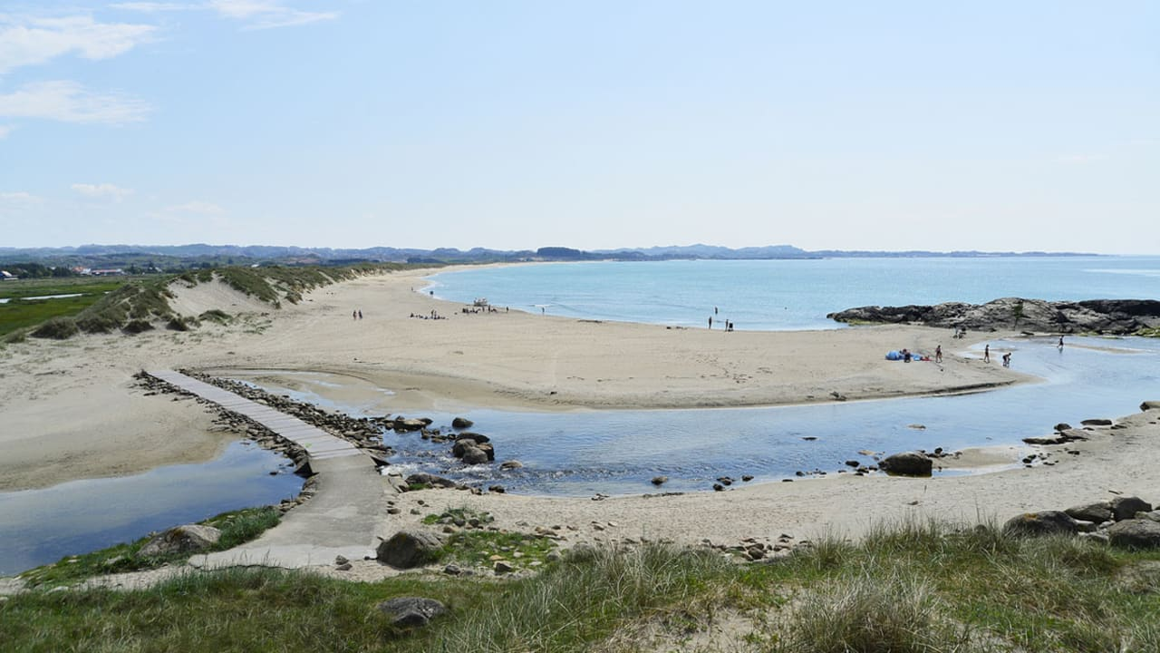Strandområde nær Brusand