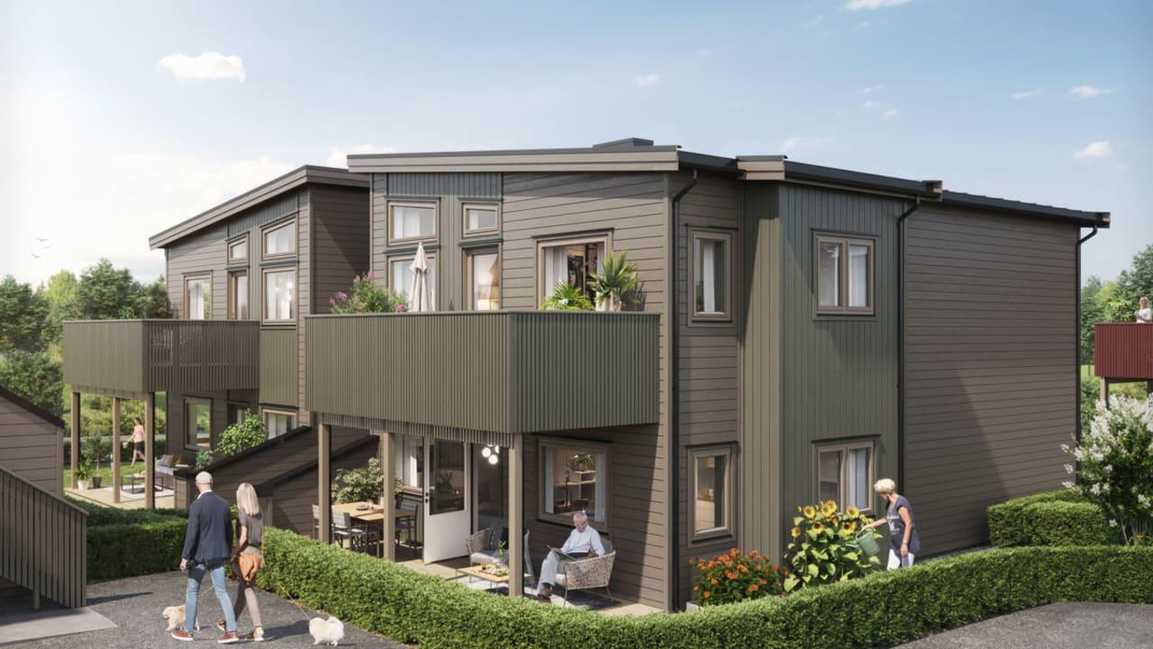 Illustrasjon av fasade hus 31-33