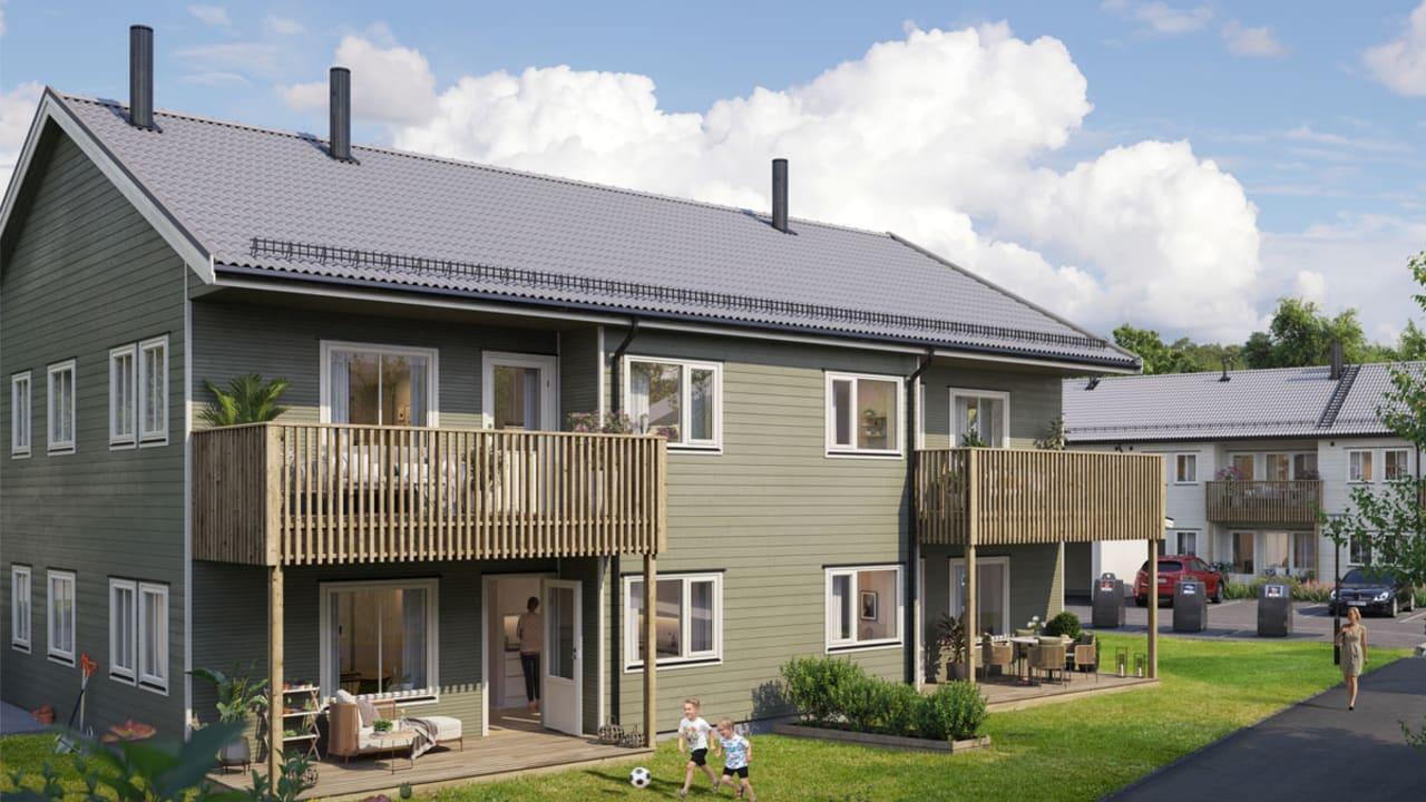 Illustrasjon av fasade på hus 4