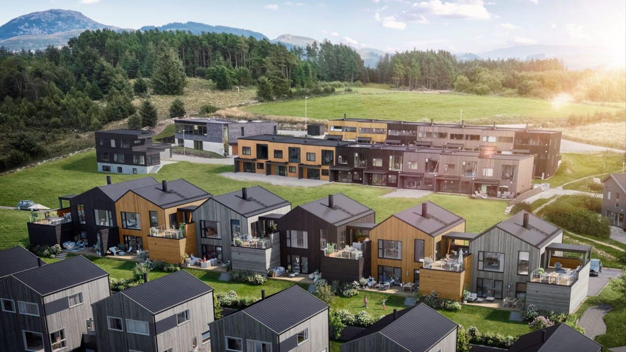 Illustrasjon av boligene