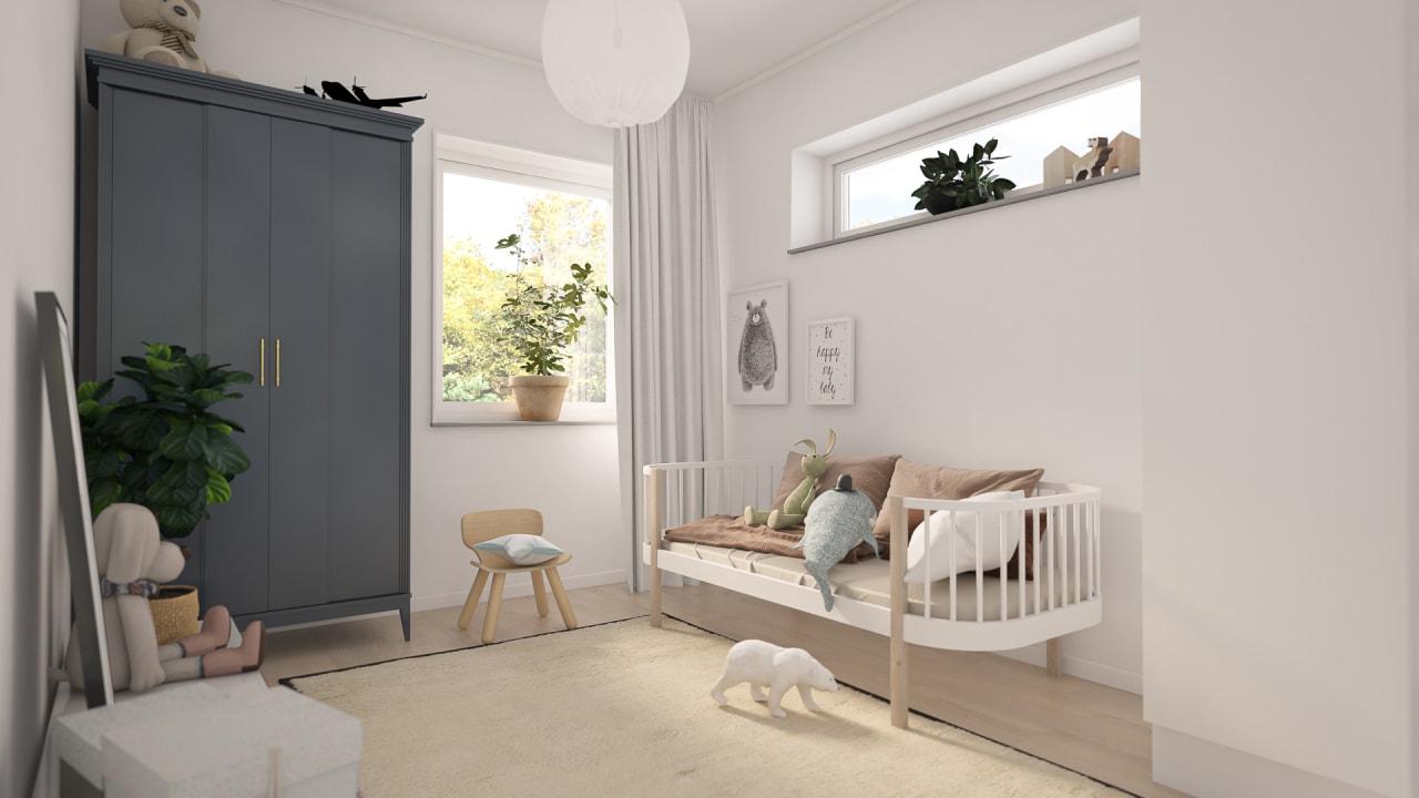 Ett rum inrett för ett barn