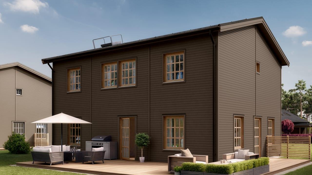 tvåvåningshus i Kv Hällmarken