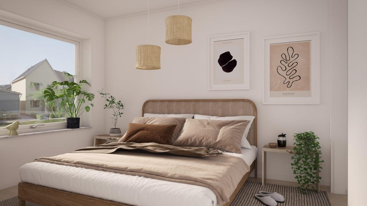 stort sovrum våning 2 radhus brf gulsparven