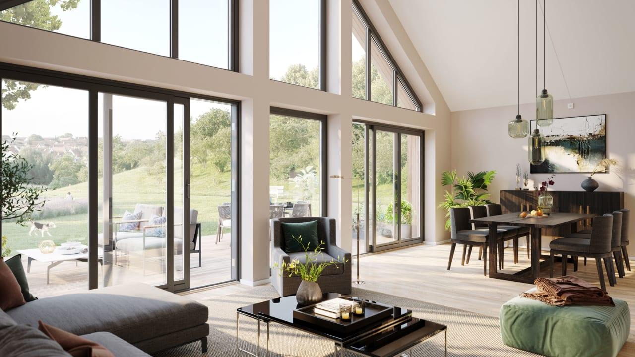 Våre interiørarkitekter og interiørdesignere hjelper deg å velge en stil som passer deg og ditt nye hus.