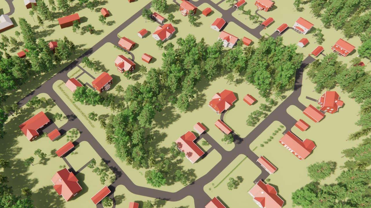 3D-bild av Baggböle
