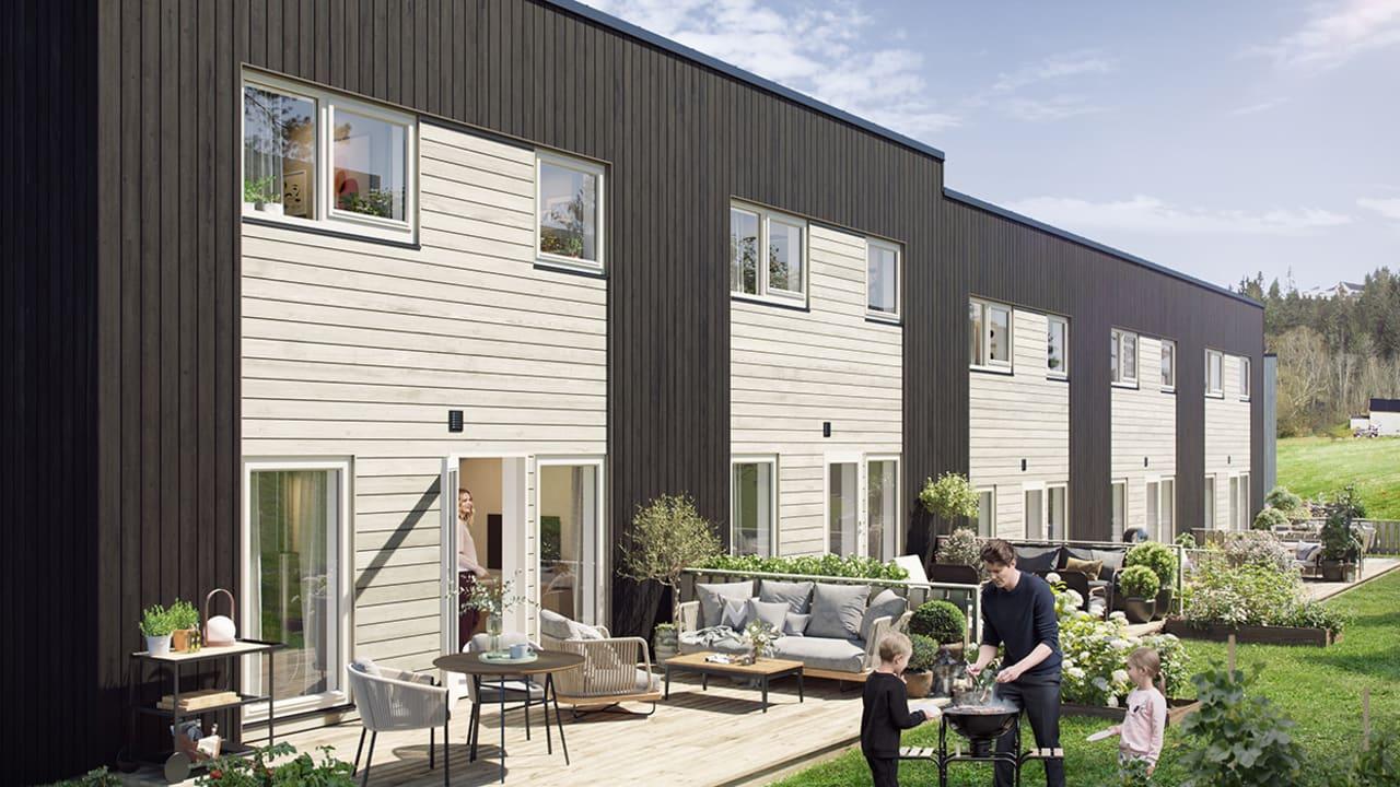 Illustrasjonsbilde av terrassene i Husbyåsen H3B