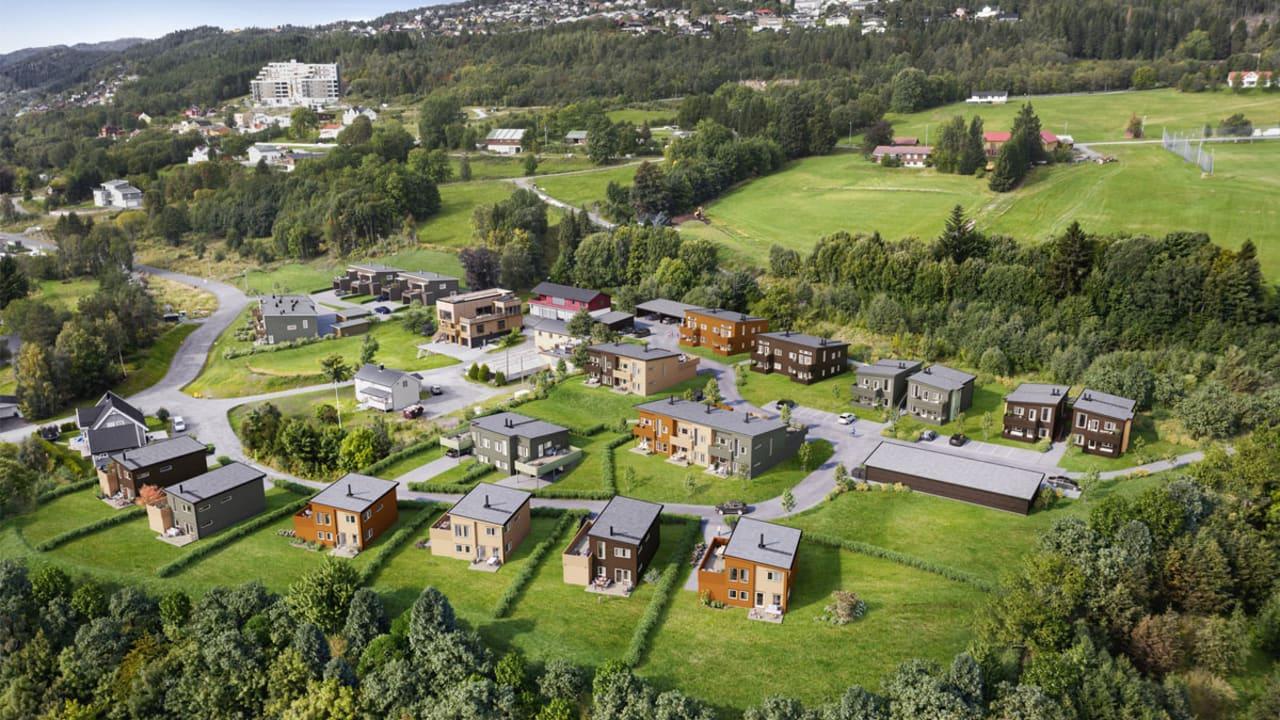 Oversikt over boligene i Eikremsvingen