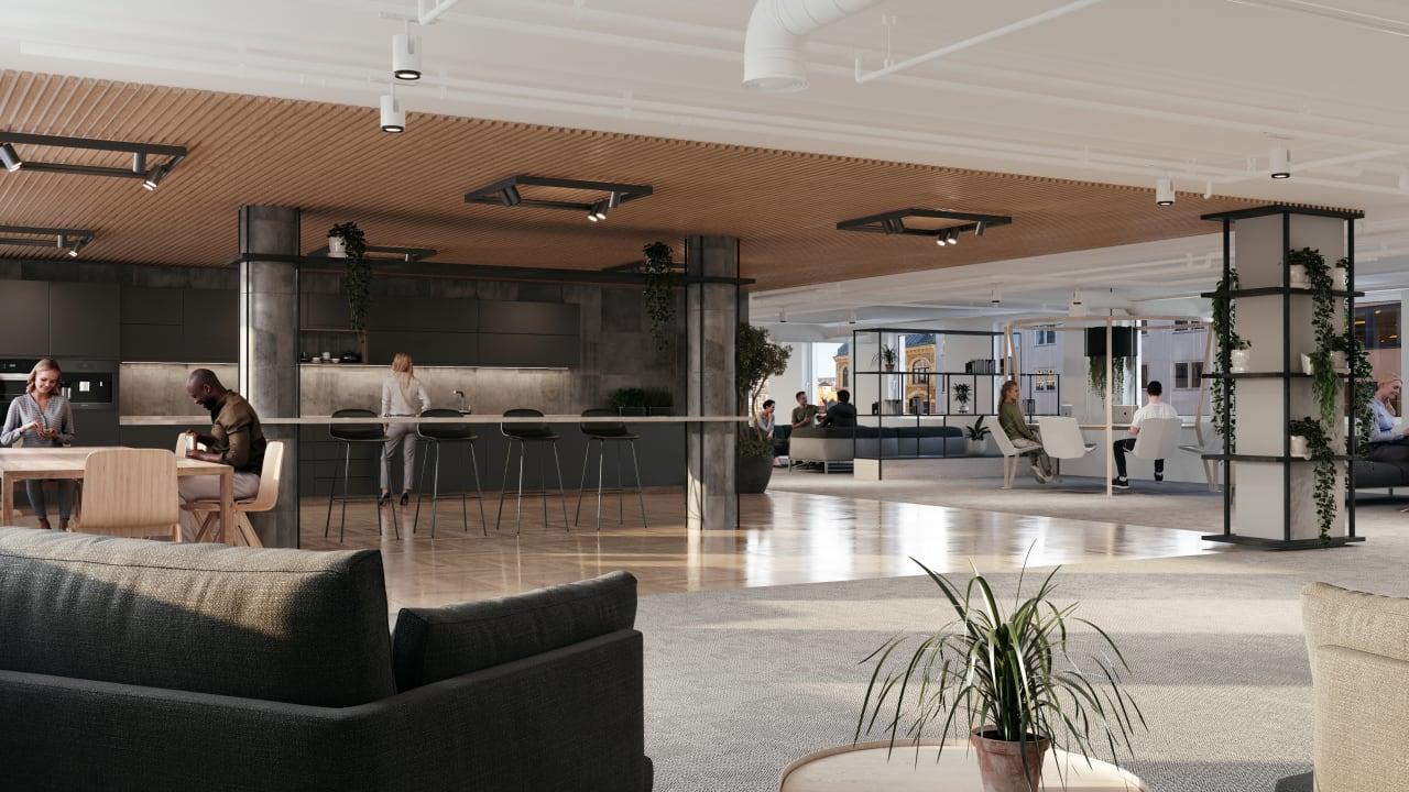 Bilde av sosialsone i 4etg Møllergata 39