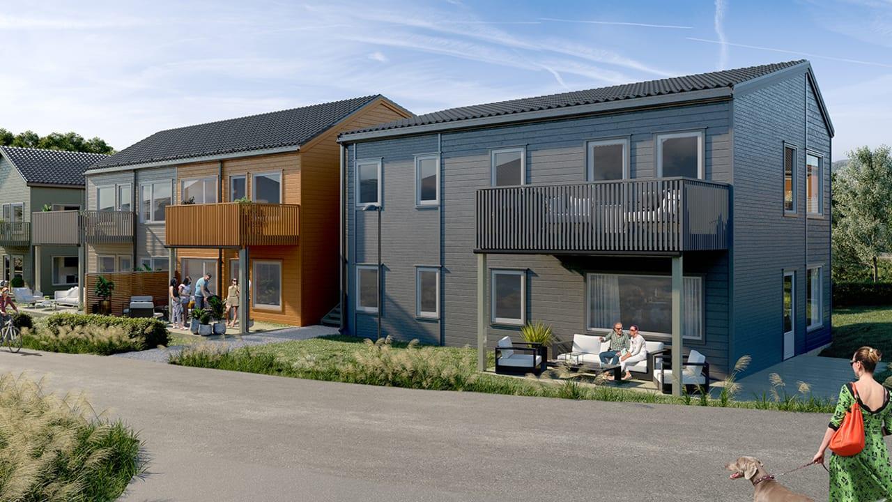Bilde av utsiden av leilighetene på Firenga