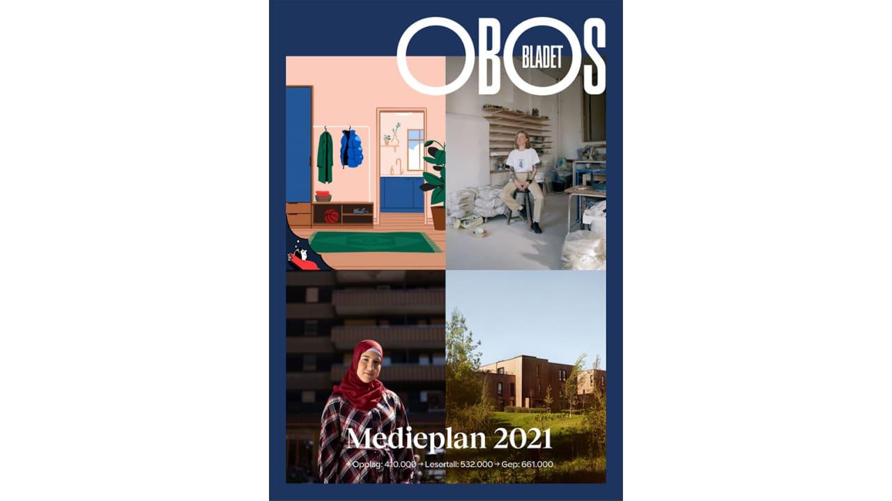 Bilde av forsiden til OBOS Bladets medieplan 2021
