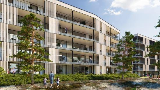 Salgstrinnside for Hus 4 i Granitten borettslag på Begbyåsen