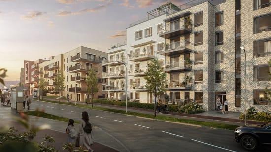 Prosjektside for boligprosjektet Vollebekk