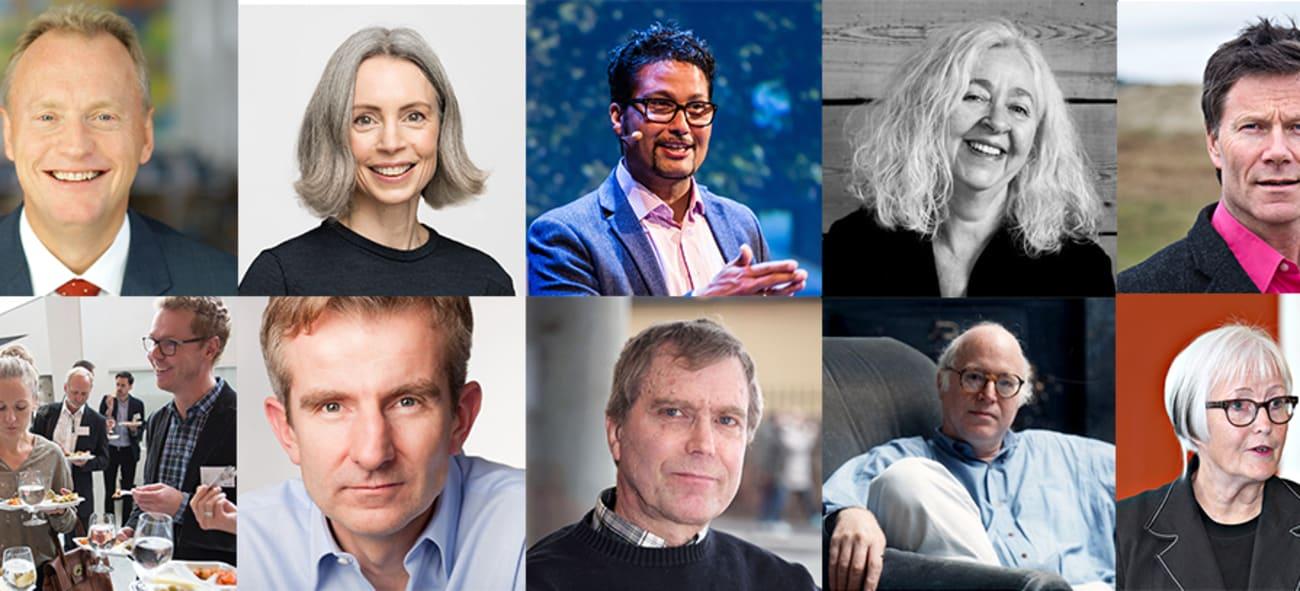 Bilde av alle foredragsholderne på boligkonferansen 2019.
