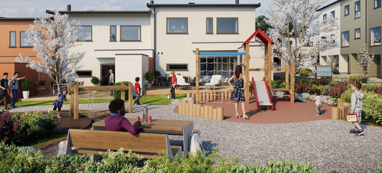 Trygge fellesområder på Øygarden i Sandnes