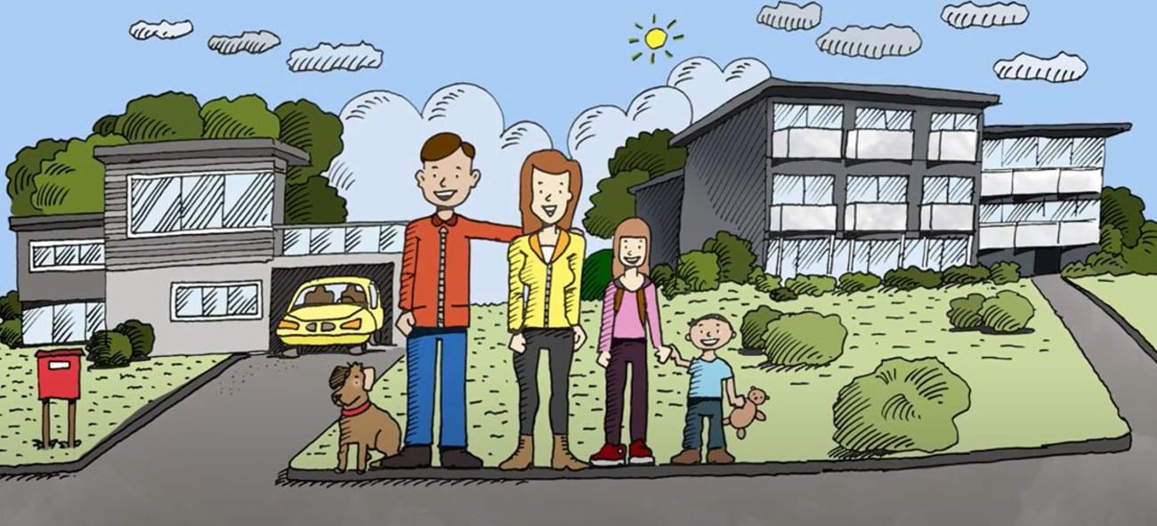 Illustrasjon fra filmen slik bygger vi boligen din