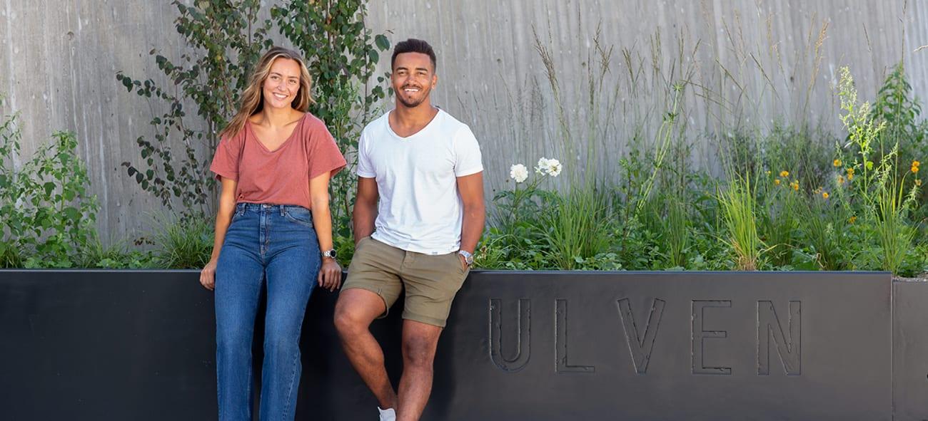 Bilde av ungt par på Ulven.
