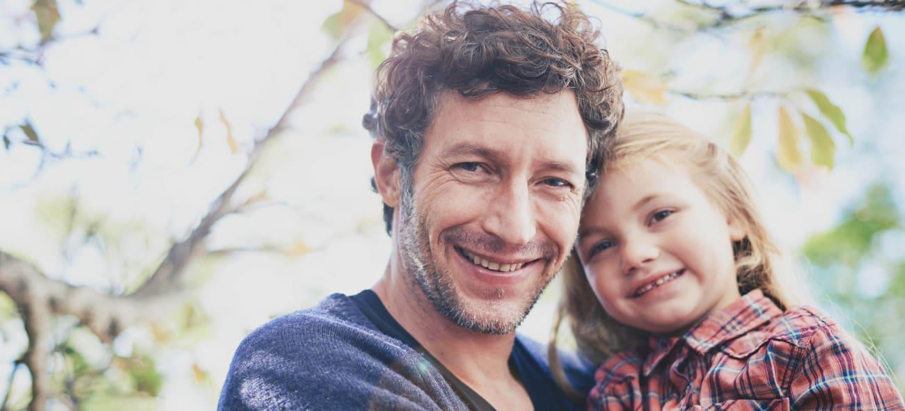 Man och dotter