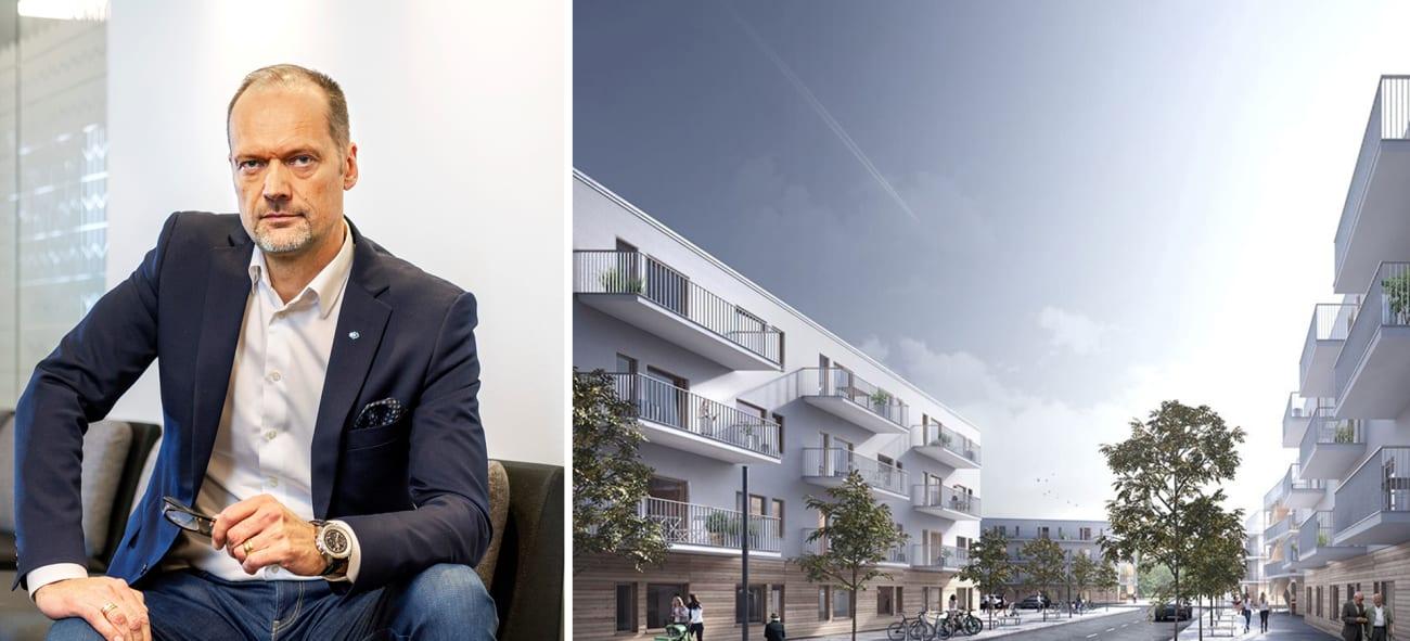 Ett kollage med Joakim Henriksson på OBOS