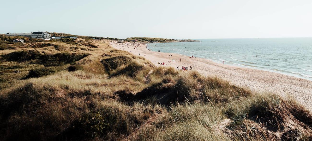 En bild på en strand i Halmstad