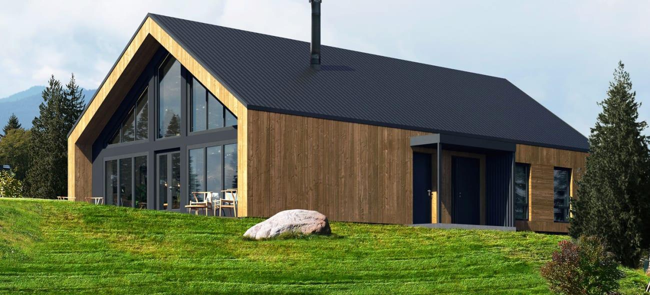OBOS Block Watne Fluks er et konsept mellom ferdighus og arkitekttegnet hus. Ved å benytte det beste fra de to kategoriene, kan vi sammen med våre kunder skape unike, arkitekttegnede hus til en overkommelig pris.