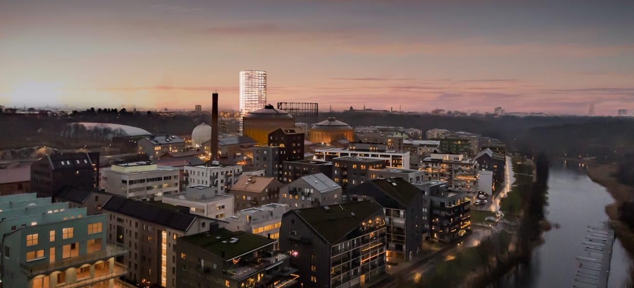Bilde av boligprosjektet Gasklockan i Stockholm