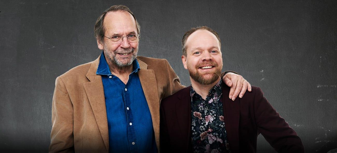 Portrett av Ole Paus og Jon Niklas Rønning