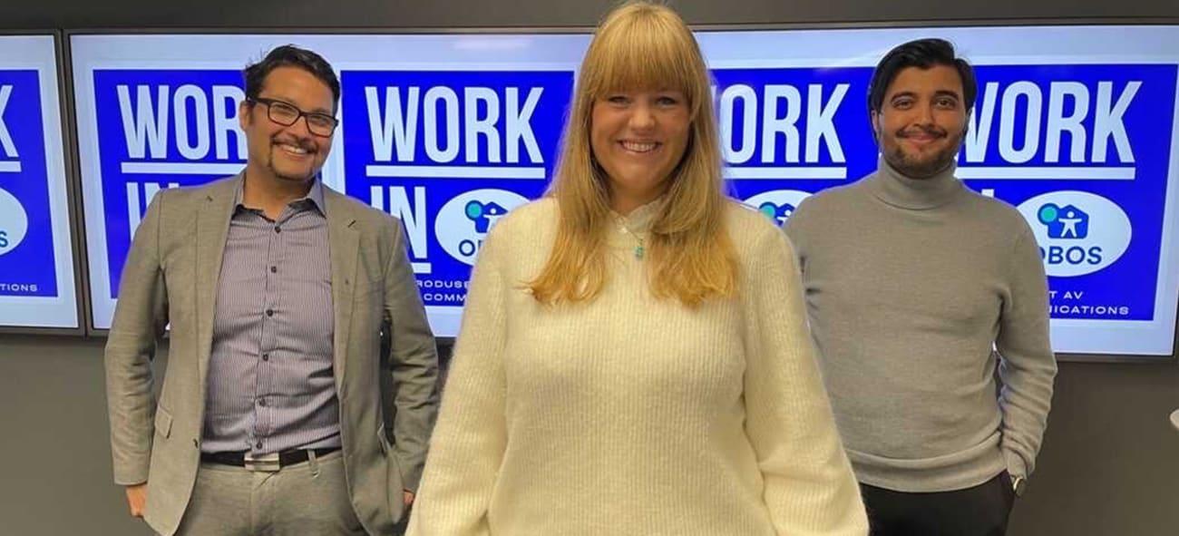 Work in podcast - bilde av Ellen Bergem, Daniel Siraj og Osman Ilyas