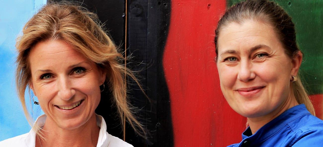 Portrett av Kaja Melbye og Ingrid Sletten.