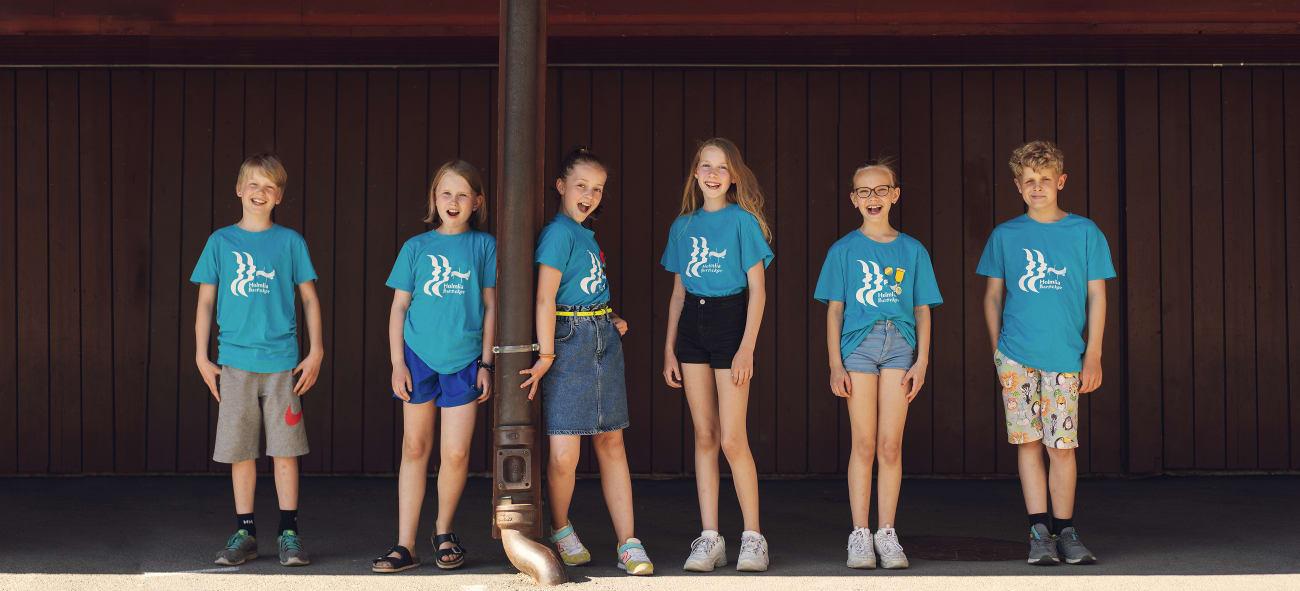 Foto av Holmlia barnekor, mottaker av pengestøtte fra OBOS