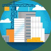Illustrasjon av konstruksjonsarbeid