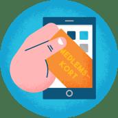 Illustrasjon av medlemskort på mobilen