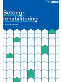 """Bilde av brosjyreforsiden hvor det står """"Betongrehabilitering – vi tar vare på dine verdier"""""""