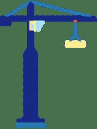 Illustrasjon av heisekran
