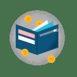 Illustrasjon av en lommebok med penger