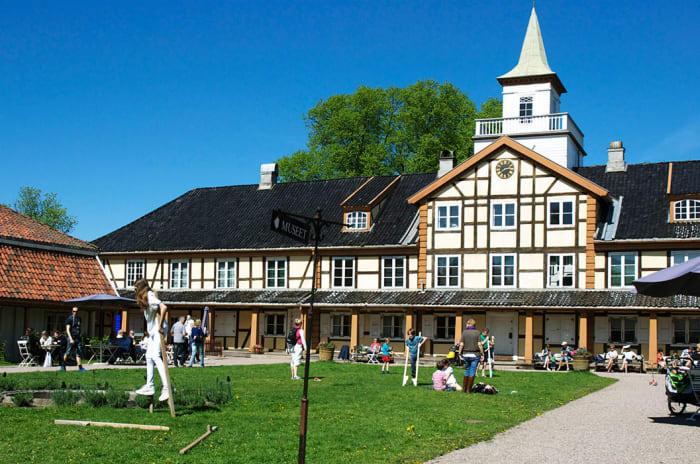 Bymuseet holder til i en koselig bygning i Frognerparken.