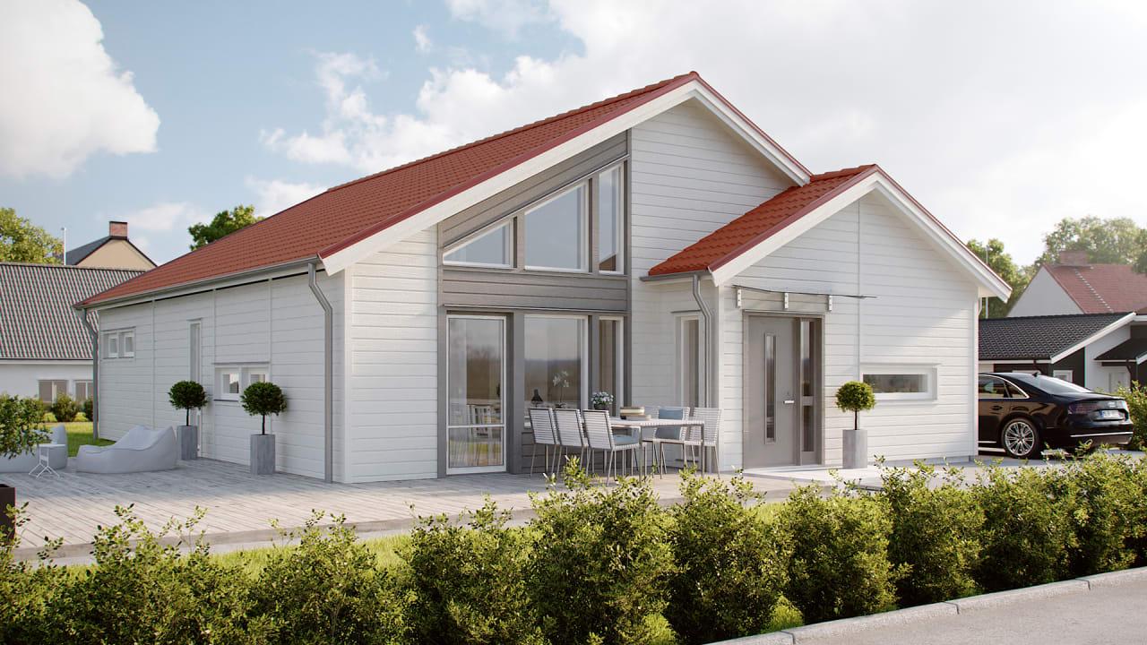 Typiskt hus från Myresjöhus