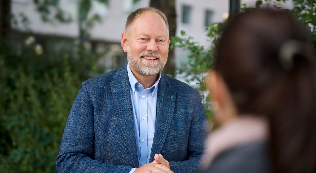 Benth A. Eik, administrerende direktør i OBOS Block Watne.