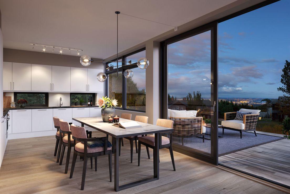 Sammen med vår interiørarkitekt veiledes du gjennom interiørvalgene, som skal samstemme med din bolig og det uttrykket du ønsker.