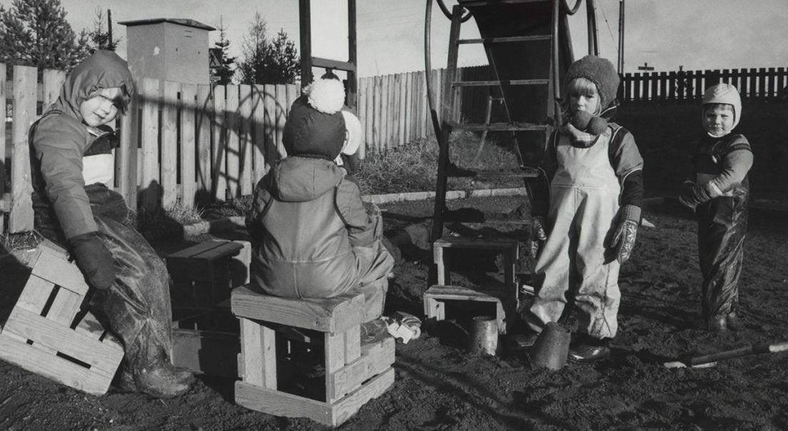 Bilde av barn fra Barneparken i Slåttevangen borettslag