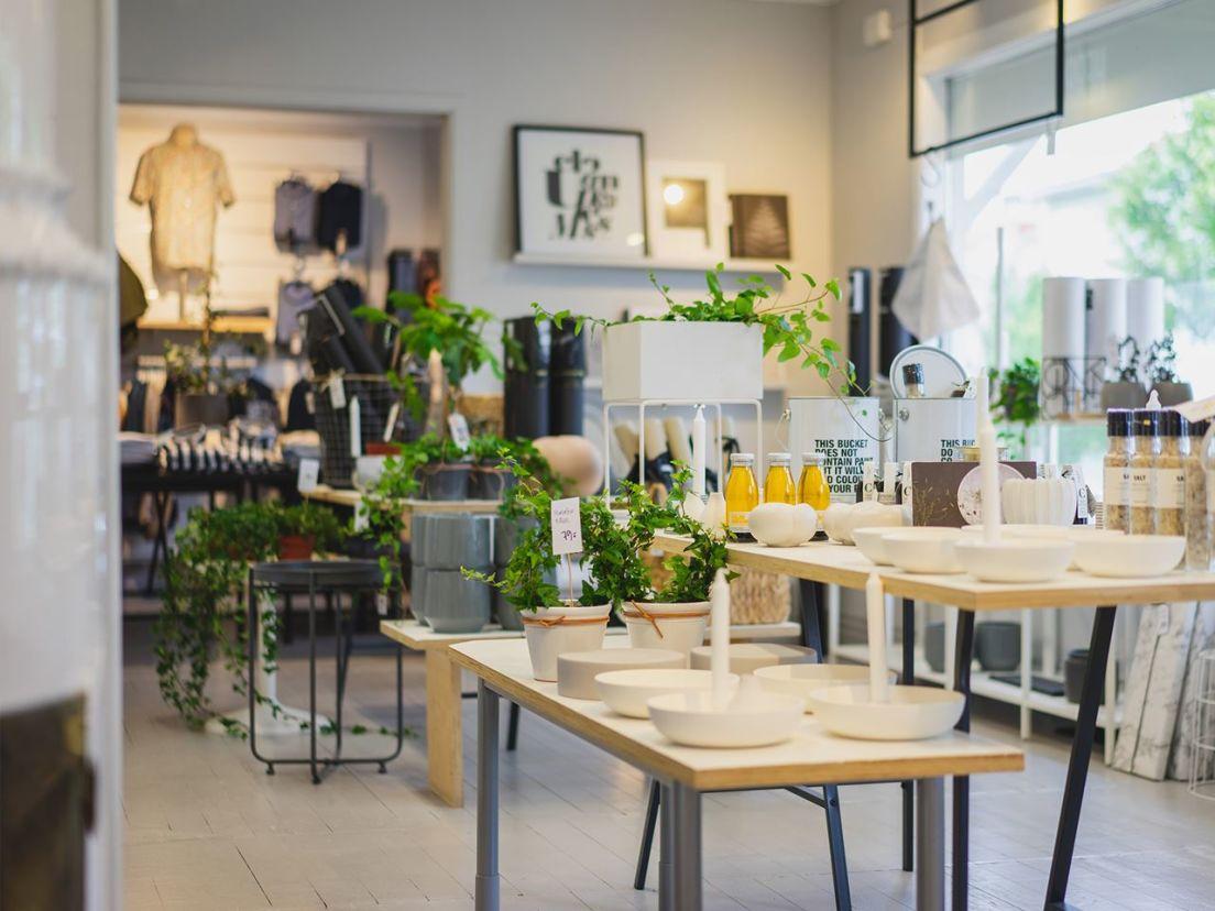 inredning i en butik i Habo